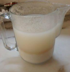 lait d'avoine non mélangé