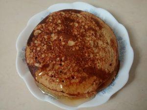 pancake au flocons d'avoine et miel