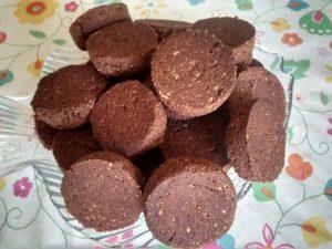 petits sablés au chocolat sans farine de blé